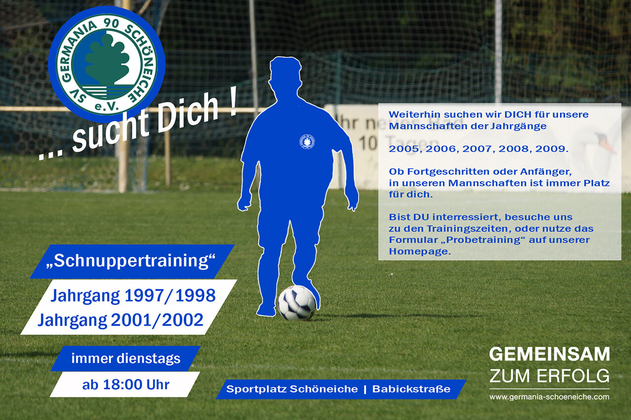 Probetraining Jung-Germanen